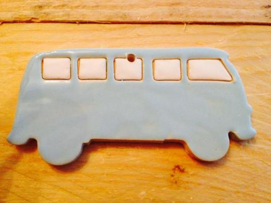 VW busje, baby blauw